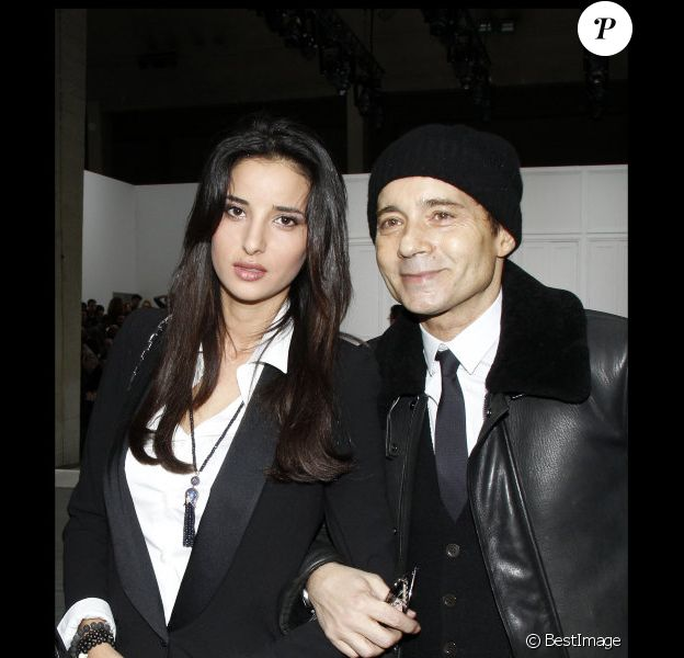 Jean-Luc Delarue et Anissa Khel, en janvier 2012 à Paris.