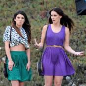 90210 : Shenae Grimes et Jessica Lowndes se font la moue et un câlin
