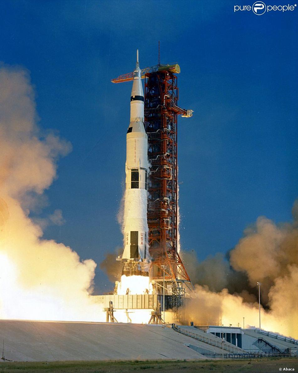 Départ de la fusée Apollo 11 en 1969...