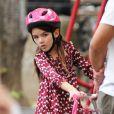 Katie Holmes et sa fille Suri sont allées dans un parc à West Village pour se dépenser un peu. Le 25 août 2012