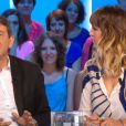 Daphné Bürki aux côtés de Jean-Luc Mélenchon dans le Grand Journal, neuvième saison, le lundi 27 août 2012 sur Canal +