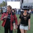 Johnny Hallyday et sa femme Laeticia au Coachella Music Festival le 14 avril 2012 à Indio