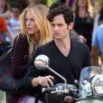 Les ex-amoureux Blake Lively et Penn Badgley tournent la sixième saison de Gossip Girl à New York, le 28 août 2012