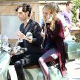 Blake Lively et Penn Badgley tournent la sixième saison de Gossip Girl à New York, le 28 août 2012