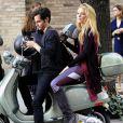 La belle Blake Lively et Penn Badgley tournent la sixième saison de Gossip Girl à New York, le 28 août 2012