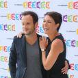 Alessandra Sublet et Jérémy Michalak à la conférence de rentrée de France Télévisions le 28 août 2012 à Paris