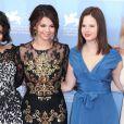 Vanessa Hudgens, Selena Gomez, Rachel Korine et Ashley Benson à la projection du film Spring Breakers, le mercredi 5 septembre 2012 à Venise, dans le cadre de la 69e Mostra de Venise.