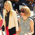 Maria Sharapova et Anna Wintour arrivent à la New York Public Library pour assister au défilé Victoria Beckham printemps-été 2013. New York, le 9 septembre 2013.