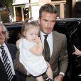 David Beckham et sa fille Harper arrivent au Balthazar pour un déjeuner en famille. New York, le 9 septembre 2012.