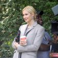 Kelly Rutherford sur le tournage de Gossip Girl à New York, le 10 septembre 2012
