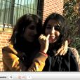 Leïla Bekhti décortiquée par le petit doigt de Géraldine Nakache. Une vidéo promo décalée pour  Nous York , en salles le 7 novembre.