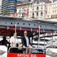Le prince Albert II de Monaco à un salon du yacht en principauté le 19 septembre 2012