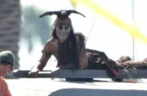Johnny Depp dans Lone Ranger : Cascades torse nu et très maquillé