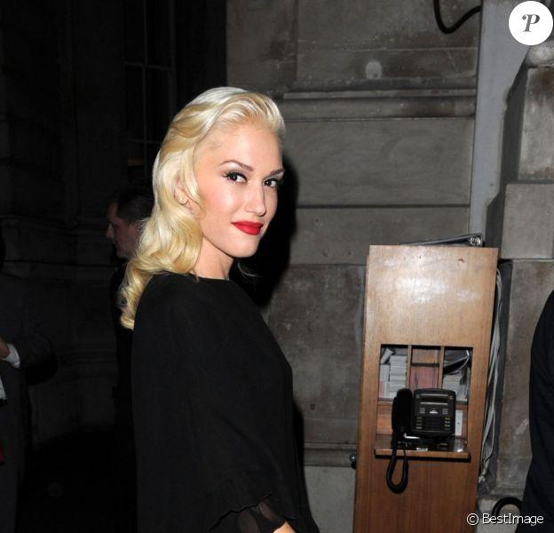 Gwen Stefani à son hôtel à Londres, le 25 septembre 2012.