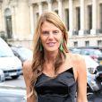 Anna Dello Russo arrive au Grand Palais pour assister au défilé de mode Carven printemps-été 2013. Paris, le 27 septembre 2012.