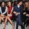 Dasha Zhukova, Natalia Vodianova, Antoine Arnault et Victoire de Castellane au premier rang du défilé prêt-à-porter de Christian Dior printemps-été 2013. Paris, le 28 septembre.