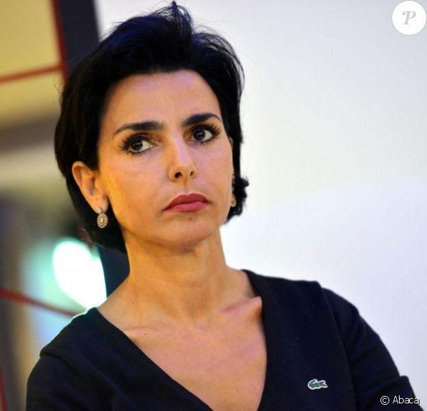 La maire du 7e arrondissement Rachida Dati lors d'un débat sur le traité budgetaire européen à Paris, le 2 octobre 2012.