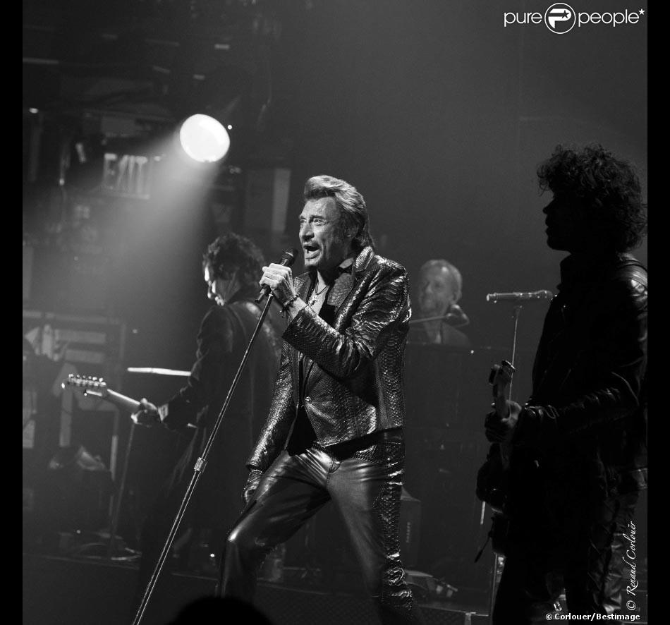 EXCLU : Johnny Hallyday en concert au Beacon Theatre à New York, le 7 octobre 2012.