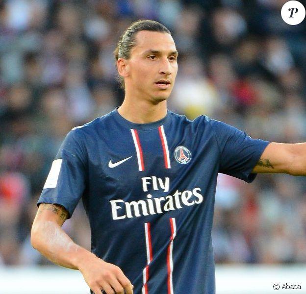 Zlatan Ibrahimovic lors du match Paris Saint-Germain contre Sochaux à Paris, le 29 septembre 2012.