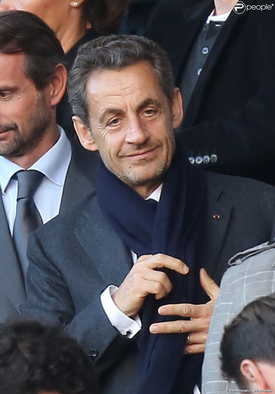 Nicolas Sarkozy lors du match PSG-Sochaux au Parc des Princes, le 29 septembre 2012