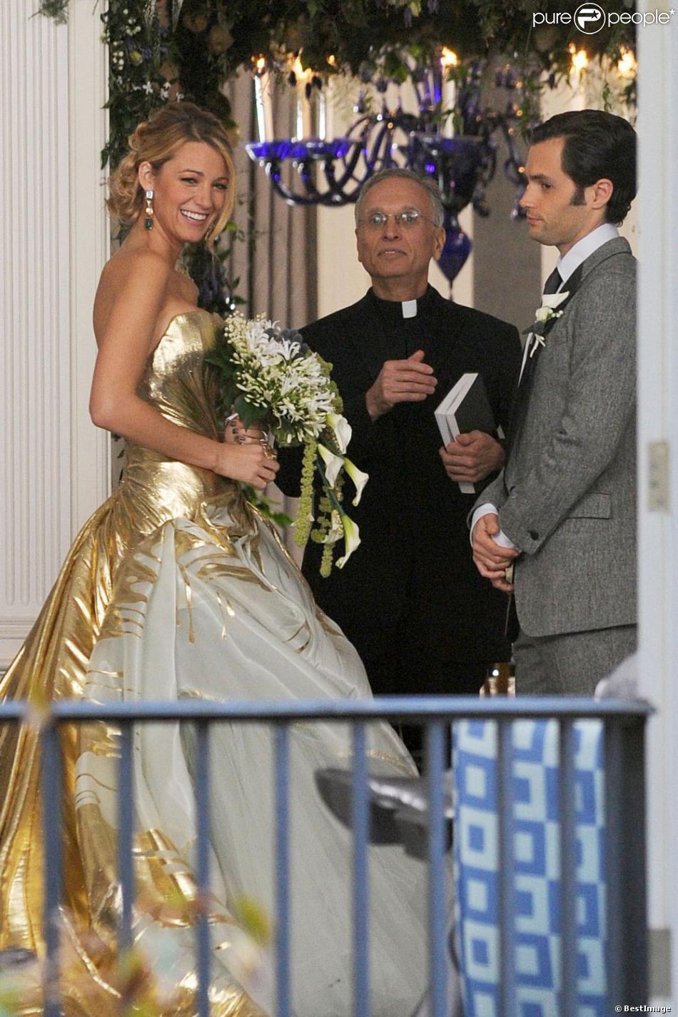 Gossip girl blake lively somptueuse et enivrante en robe for Last season wedding dresses