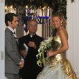 Blake Lively et Penn Badgley sur le tournage de la dernière saison de Gossip Girl à New York, le 16 octobre 2012