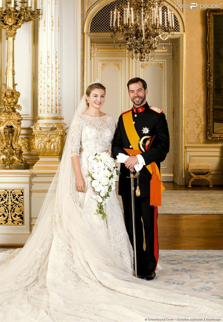 Mariage prince Guillaume , Stéphanie de Lannoy  Portrait officiel des  mariés