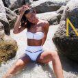 La jolie Céline Duchange de la  Star Academy 6  prend la pose pour les maillots de bain Marreziani