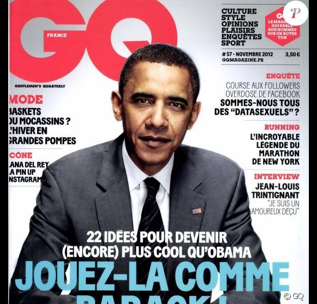 La couverture du magazine GQ du mois de novembre 2012.