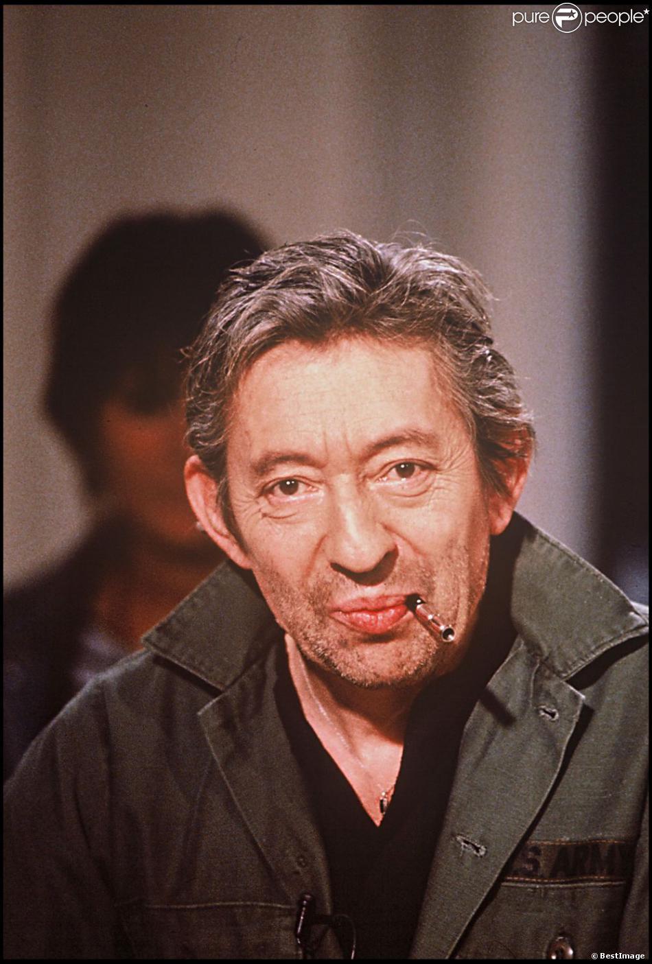 Serge Gainsbourg à Paris en 1989.