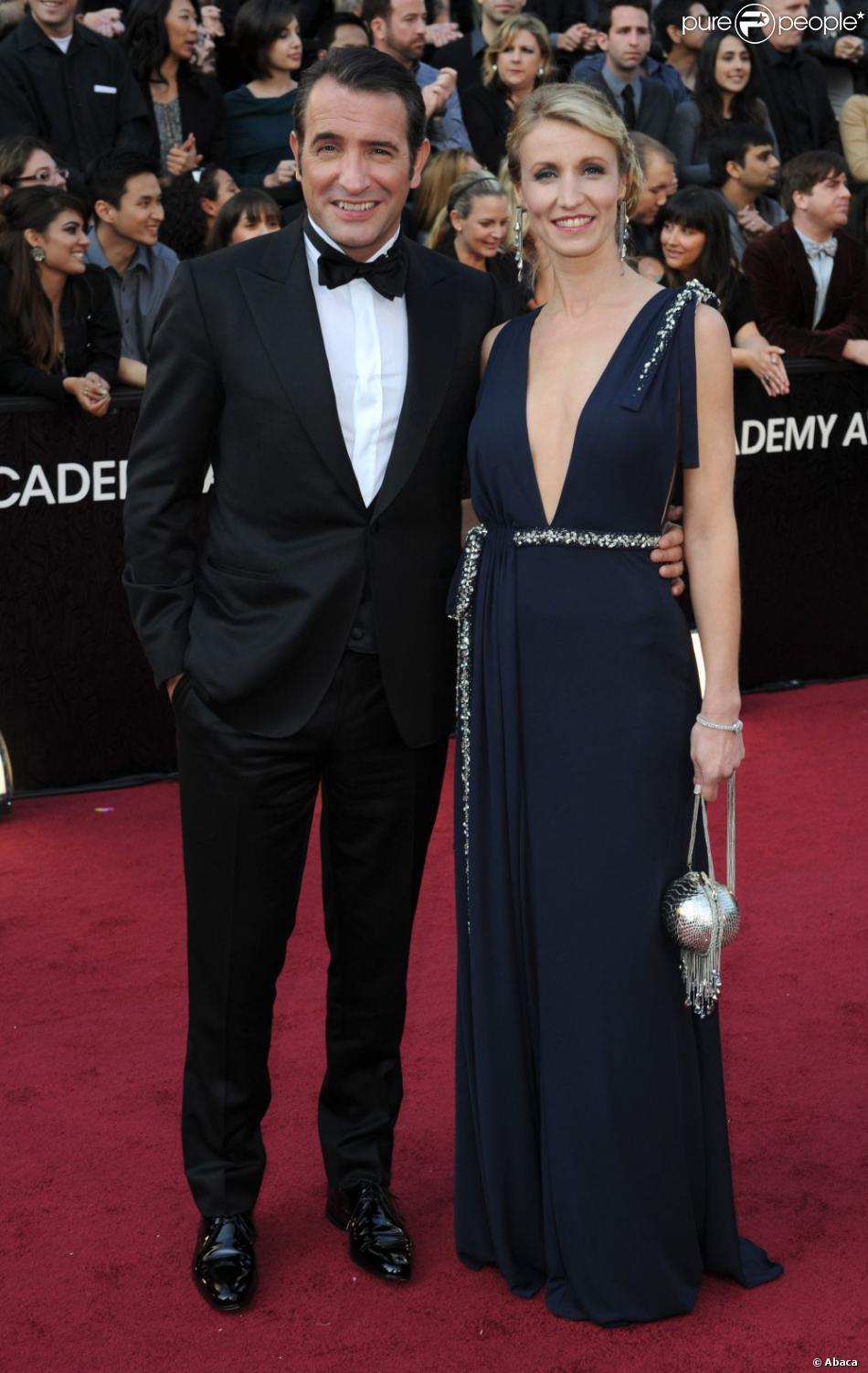 Jean Dujardin et Alexandra Lamy lors des Oscars le 26 février 2012