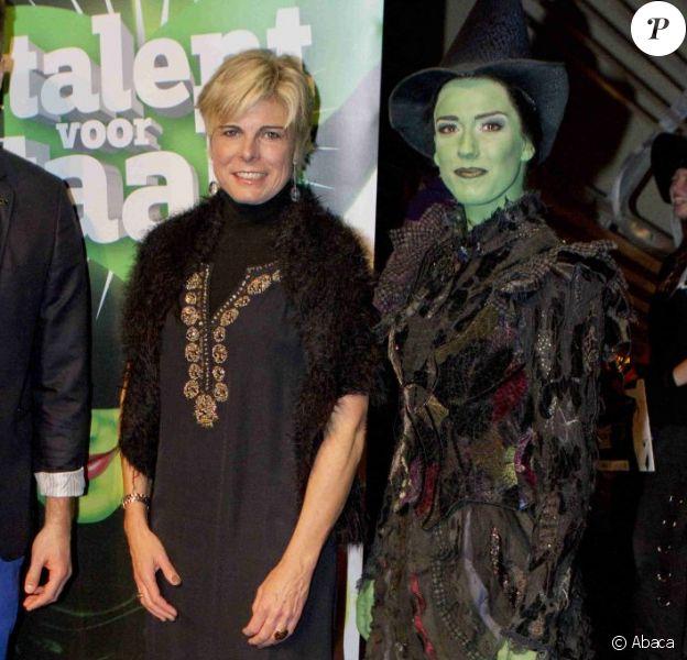 La princesse Laurentien des Pays-Bas lors de la finale du concours Talent door Taal, le 30 octobre 2012 au Circustheater de La Haye.