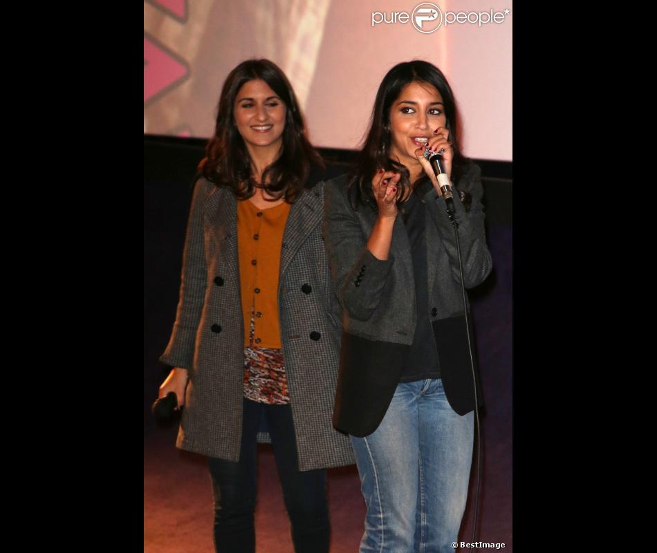 EXCLU - Géraldine Nakache et Leïla Bekhti lors de l'avant-première du film Nous York à Versailles au cinéma Le Cyrano le vendredi 2 novembre 2012