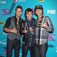 Le groupe Embelm3 à la soirée des finalistes de X Factor à Los Angeles le 5 novembre 2012.