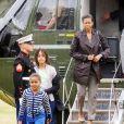 Sasha et Malia Obama, encore enfants lors de leurs premiers mois à la Maison Blanche. En mars 2009