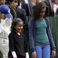 Sasha et Malia Obama, adorables en avril 2009