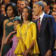 Sasha et Malia Obama, lookées pour soutenir leur papa en décembre 2011
