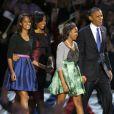 Sasha et Malia Obama, stylées et bien grandes lors de la seconde victoire de leur père Barack Obama le 6 novembre 2012