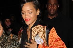 Rihanna, accro à la mode, dément être de nouveau en couple avec Chris Brown