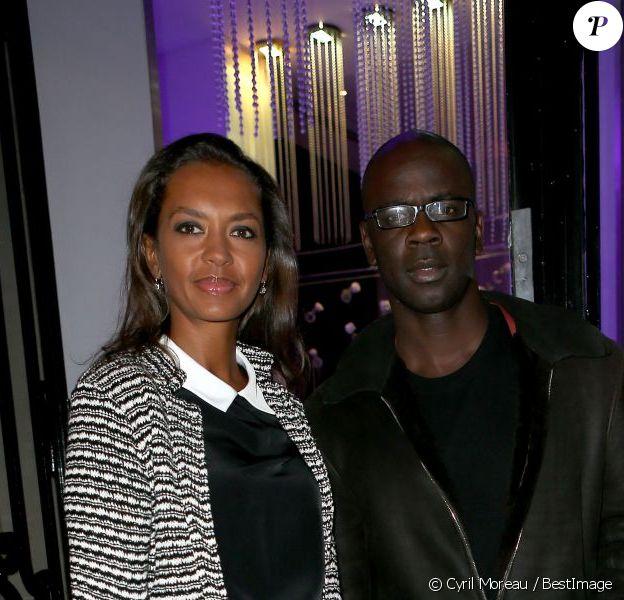 Lilian Thuram et Karine Le Marchand ont assisté à la soirée Stand up for African Mothers à Paris le 19 Novembre 2012.