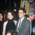 Rob Lowe et Melissa Gilbert amoureux et réunis en 1987.