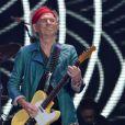 Keith Richards sur la scène de l'O2 Arena à l'occasion du 50e anniversaire des Rolling Stones. Londres, le 25 novembre 2012.
