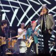 Les Rolling Stones en concert à l'O2 Arena à l'occasion de leur tournée pour leur 50e anniversaire. Londres, le 25 novembre 2012.