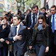 Carla Bruni et Nicolas Sarkozy à Paris, le 6 mai 2012.