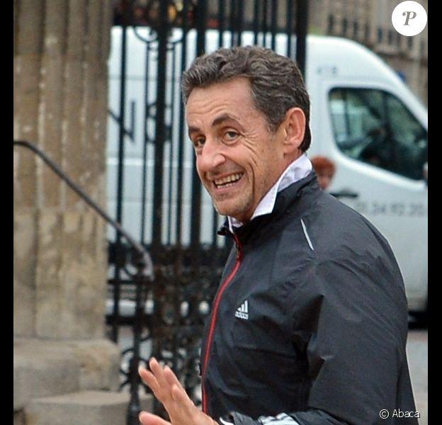 Nicolas Sarkozy au Parc Monceau à Paris le 28 novembre 2012.