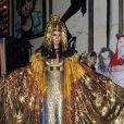 La superbe Heidi Klum déguisée en Cléopâtre lors de sa soirée post-Halloween (elle avait reporté sa fête d'Halloween à cause de l'ouragan Sandy). A New York, le 1er décembre 2012