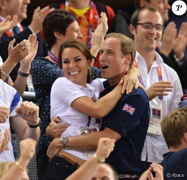 Kate Middleton et le prince William, survoltés aux Jeux olympiques de Londres en août 2012
