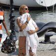 Beyoncé porte Blue Ivy en vacances à Beaulieu-sur-Mer en France le 8 septembre 2012.