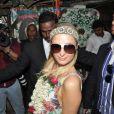 Paris Hilton visite un orphelinat à Bombay le 3 décembre 2012.