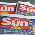Editions du journal anglais  The Sun  appartenant à News Corp. le groupe de presse de Rupert Murdoch.